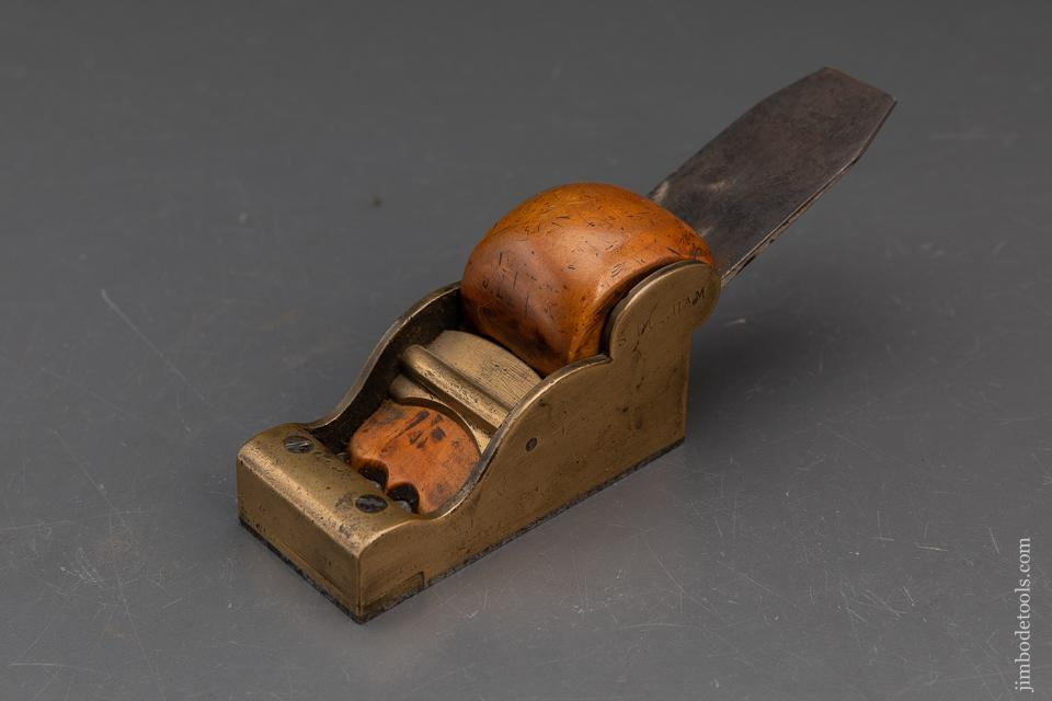 1 3/4 x 4 inch Gunmetal and Boxwood Chariot Plane - 93479R