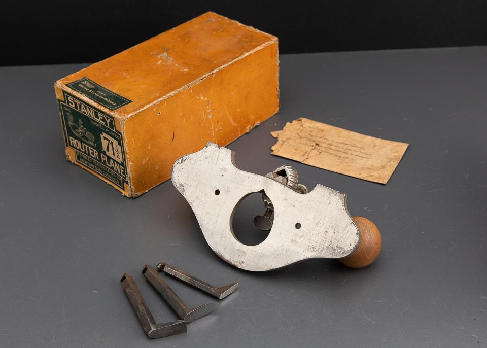 STANLEY No. 71 1/2 Router Plane MINT in Original Box EARLY Type 4 circa 1911-1924 - 93494
