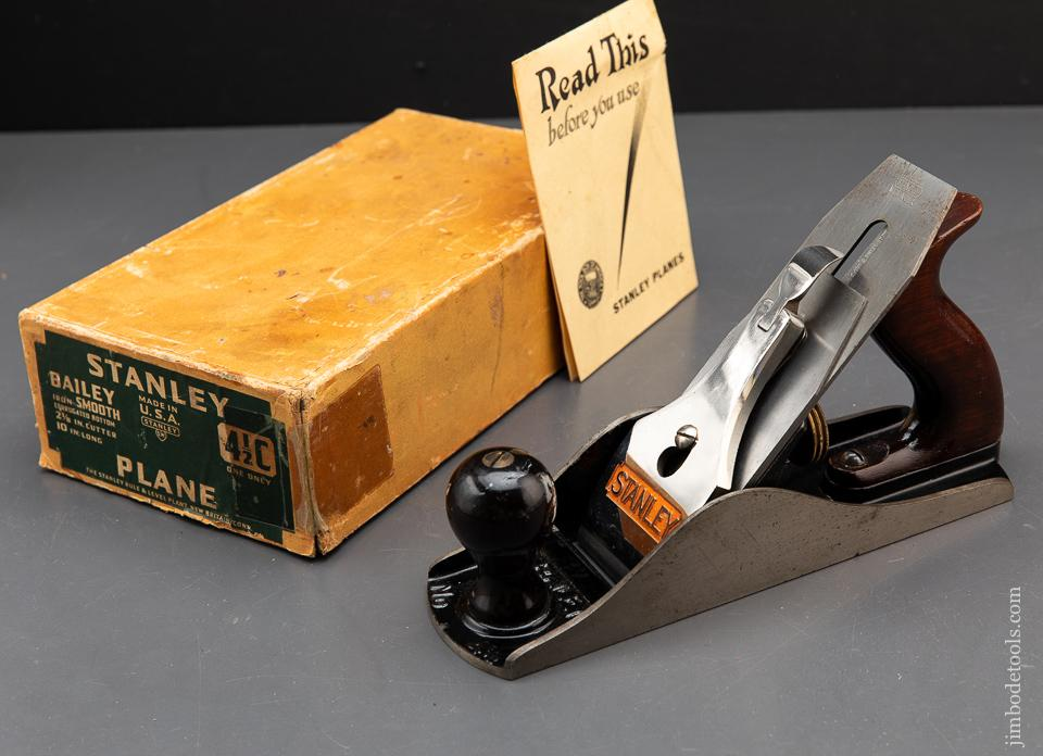 STANLEY No. 4 1/2C Smooth Plane MINT in Box - 93668