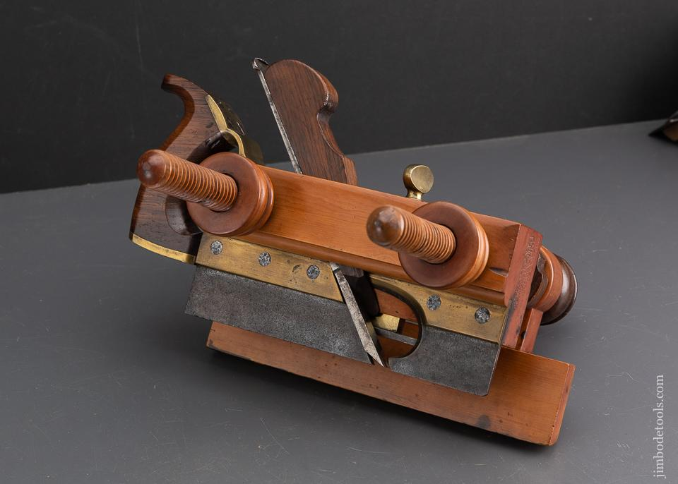 Magnificent! E.W. CARPENTER Patent 1838 Rosewood & Boxwood Handled Plow Plane - 93521U