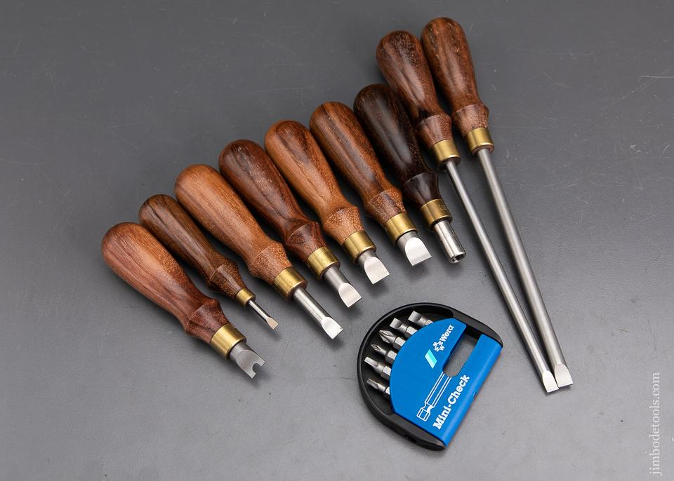 Complete! 9 Piece LIE-NIELSEN Screwdriver Set Cocobolo - 93640