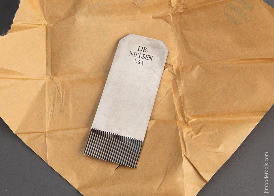 NEW in Wrapper! 18 Tooth LIE-NIELSEN Iron for LIE-NIELSEN No. 212 Scraper Plane - 93734