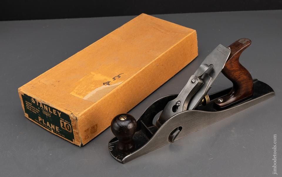Excellent! STANLEY NO. 10 Rabbet Plane with Pasteboard Box FINE - 93778