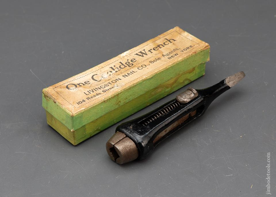 Mint! COOLIDGE Wrench by HUDSON PARER in Original Box for LIVINGSTON NAIL CO - 93946
