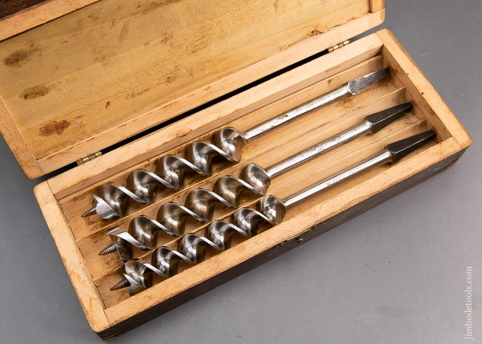 EXTRA FINE Complete Set of 13 RUSSELL JENNINGS Auger Bits in its Original Three Tiered Box - 94009