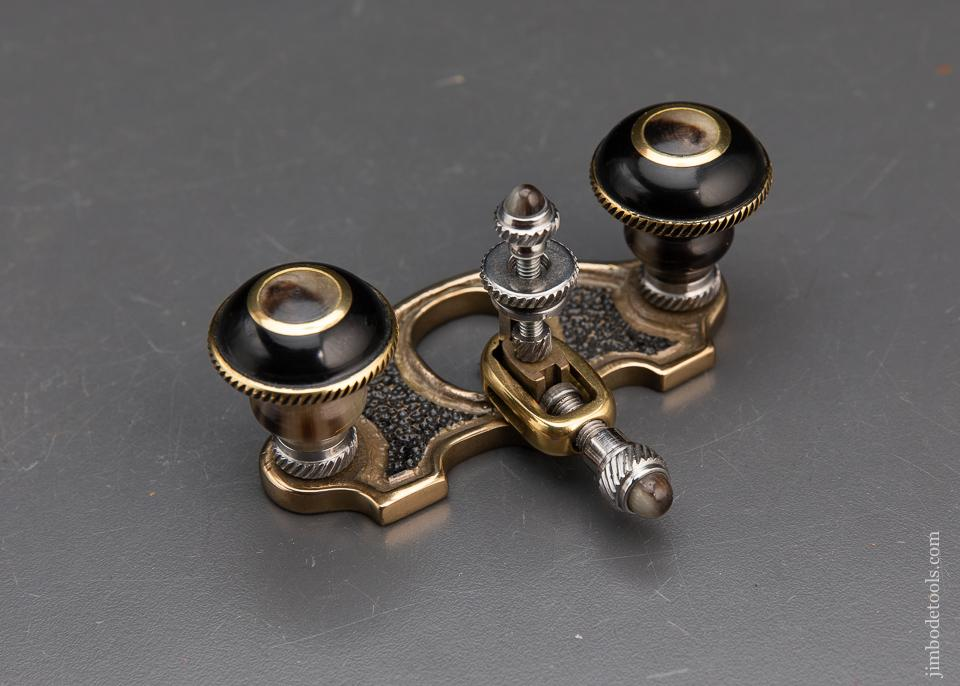 Fabulous & Ornate! Miniature Router Plane with Buffalo Horn Handles by ABEIL RIOS - 94015U