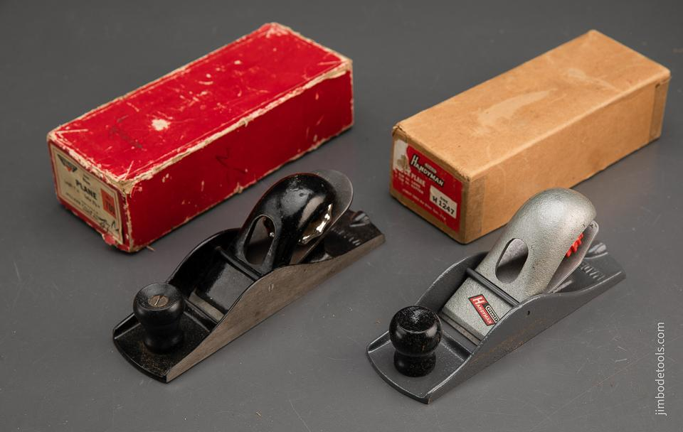 STANLEY HANDYMAN No. H1247 Block Plane and MILLERS FALLS No. 700 Block Plane in Original Boxes - 94207