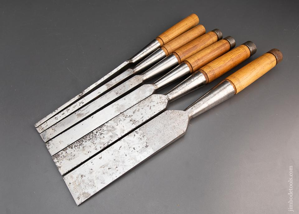 MINT & UNUSED! Set of Six NEW OLD STOCK Heavy Framing Chisels by PS&W - 94233
