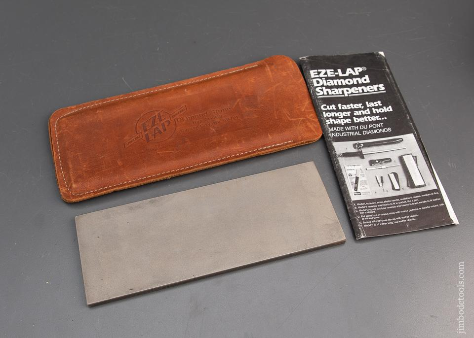 HUGE 3 x 8 inch EZE LAP Diamond Sharpening Stone in Original Leather Sheath - 94248