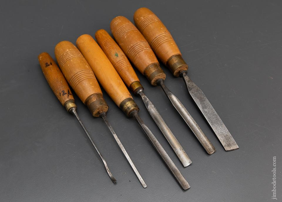 Six Good HENRY TAYLOR Carving Gouges - 94336