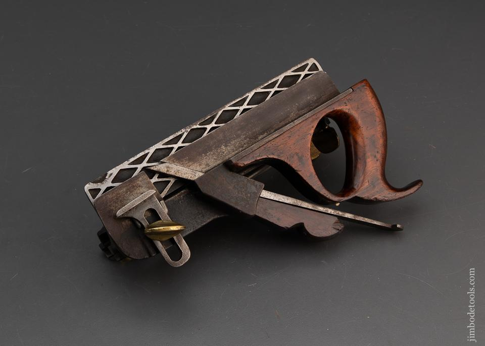 MORRIS Patent March 21, 1871 Type One Scissor Arm Plow Plane with One Iron and Original Paper Label! - 94358
