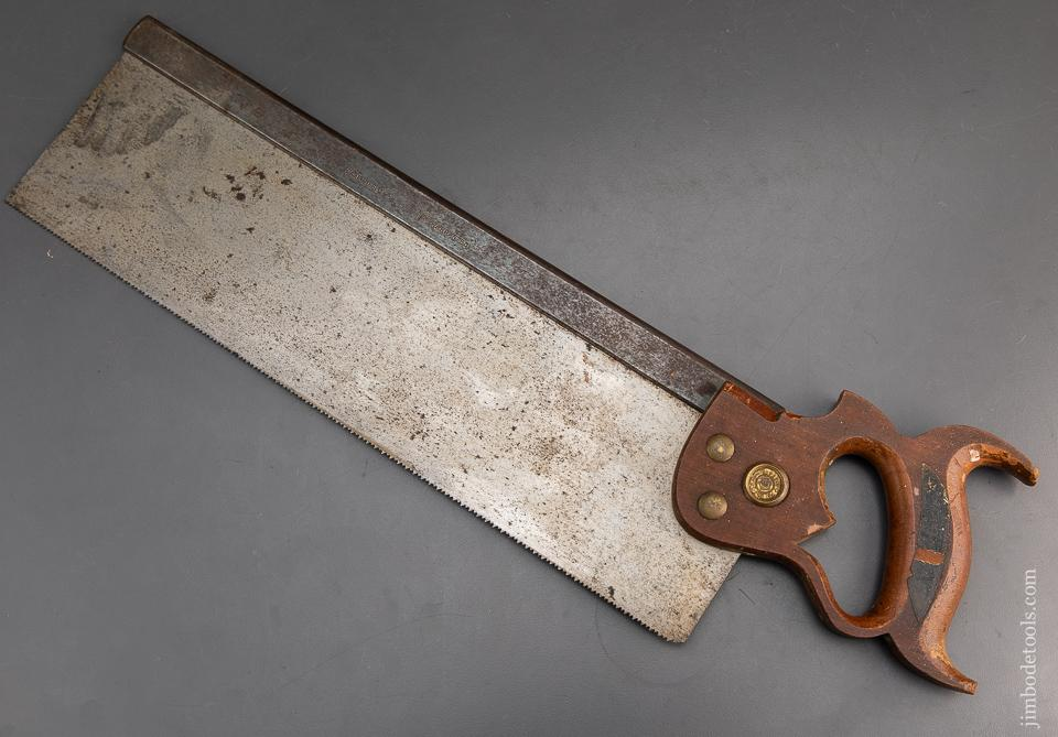 Near Mint With Label! DISSTON Sixteen inch Carcass Saw - 94477