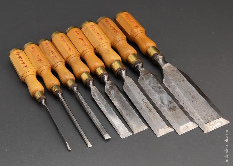 Fantastic 8 Piece Boxwood Handled Chisel Set by ROBERT SORBY - 94568