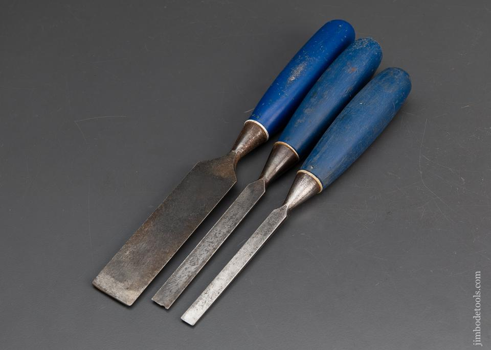 3 good MARPLES Blue Chip Chisels - 94870