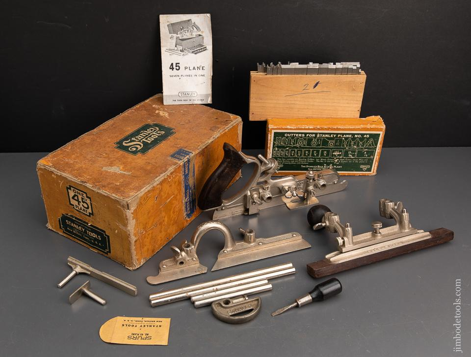 STANLEY No. 45 Combination Plane 100% Complete, Mint and Unused in its Original Box - 94930