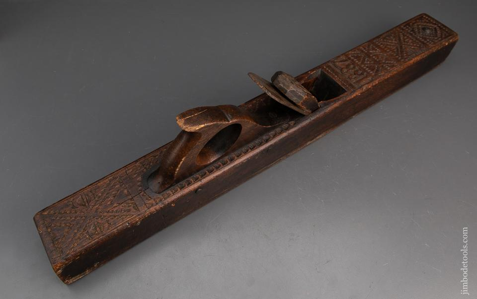 Gorgeous Hand-Carved and Decorated DATED 1887 Jointer Plane - 95058