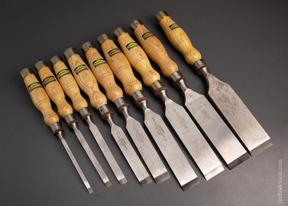 Graduated Set 9 MARPLES Heavy Mortise Chisels MINT! The Last Set of Mortise Chisels You Will Ever Need - 95186