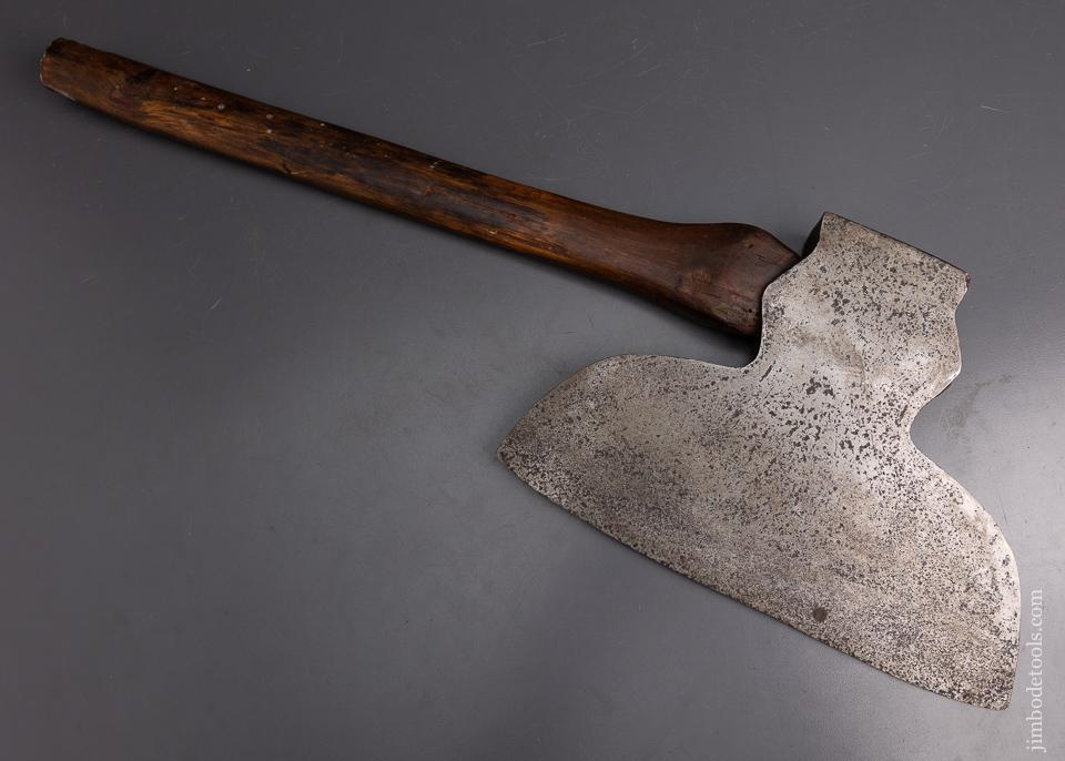 Great Single Bevel Offset Broad Axe WILLIAM MANN? - 95519