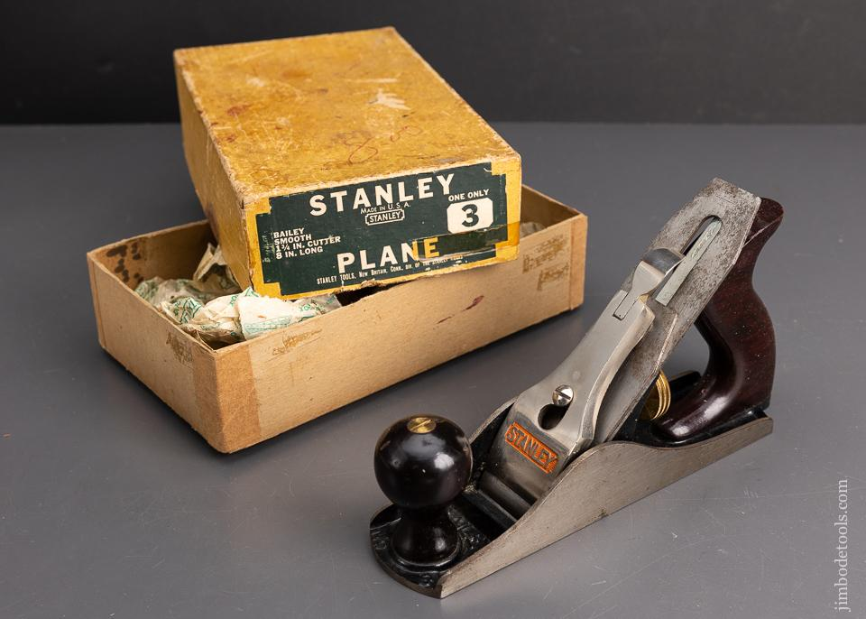 STANLEY No. 3 Smooth Plane Near Mint in Box - 95755