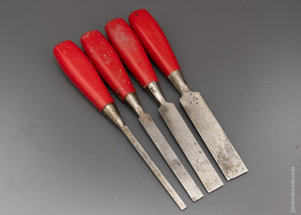 Good Set of 4 FOOTPRINT Bevel Edged Firmer Chisels - 96321