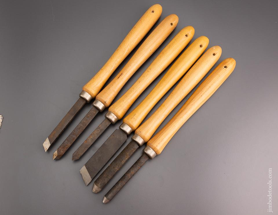 Set of 6 Japanese Turning Chisels - 96796
