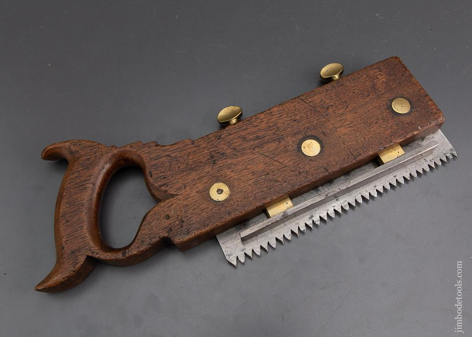 Fancy 19th Century Kerfing Saw with Depth Stop - EXCALIBUR 96