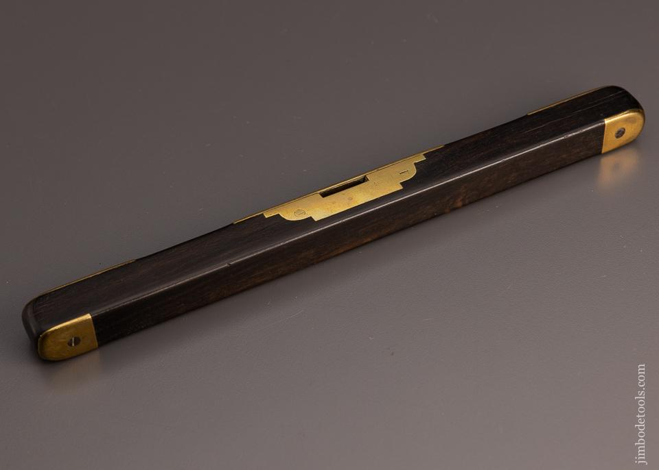 Fantastic, Ornate Ebony & Brass Level by BUIST - 97697