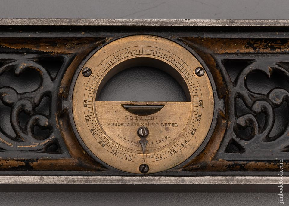 Spectacular DAVIS Ornate Filigris Inclinometer Level 12 Inch - 97802