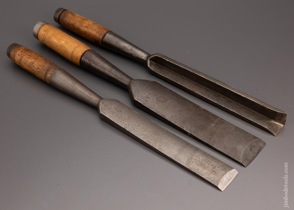 Great Set of 3 Heavy Framing Chisels by G.I. MIX - 97970