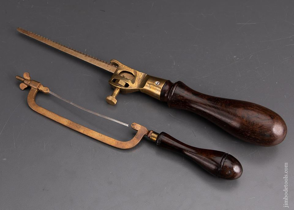 Two Lovely Rosewood & Brass Saws EXTRA FINE - EXCALIBUR 97