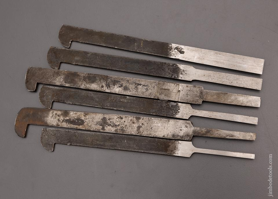Excellent Matched Set of 6 Plow Plane Irons - 98000