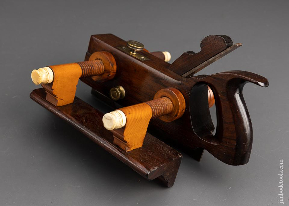 Drop Dead Gorgeous Rosewood Plow Plane with all the Fancy Trimmings by CASEY & CO. AUBURN N.Y. - EXCELSIOR 94172