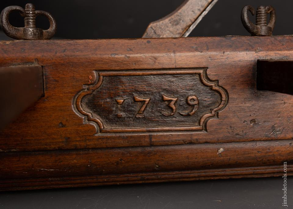 1739 DATED Dutch Plow Plane Signed FM - EXCELSIOR 95549