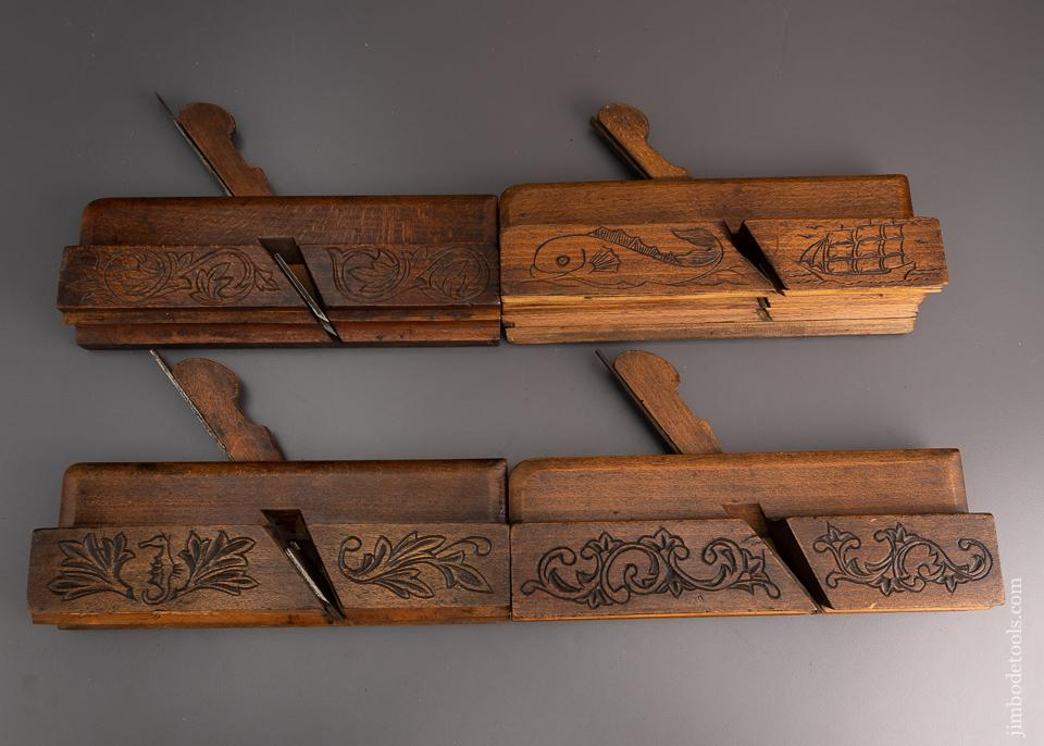 Amazing Set of Eight Carved Moulding Planes - EXCELSIOR 59500