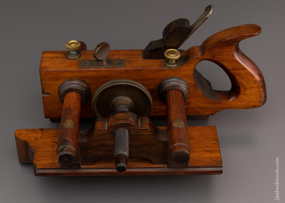Exquisite Rosewood SANDUSKY No. 140 Center Wheel Plow Plane - EXCELSIOR 93475