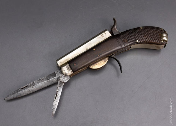 Incredible UNWIN & RODGERS PATENT 25 Caliber Knife and Pistol - EXCELSIOR 95952