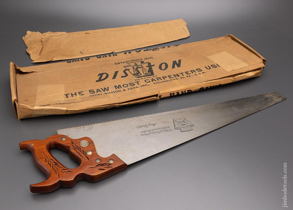 DISSTON Vintage No. D-23 Hand Saw Dead Mint in Box - EXCELSIOR 97833
