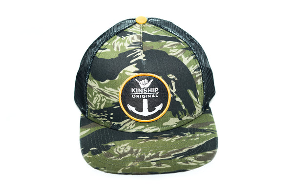 Shaka Anchor Surfing Emblem Tiger Camo Hat Kinship Original