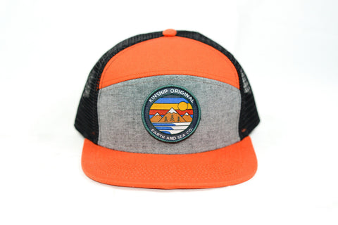 Explorer Rust & Black Oxford Trucker Hat Kinship Original