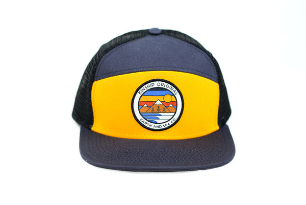 Explorer Navy & Athletic Gold Trucker Hat Kinship Original