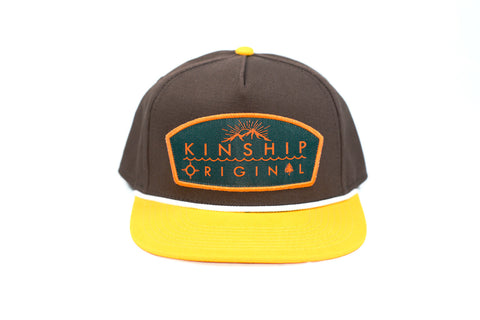 Tradesman Brown and Athletic Gold Snapback Hat Kinship Original