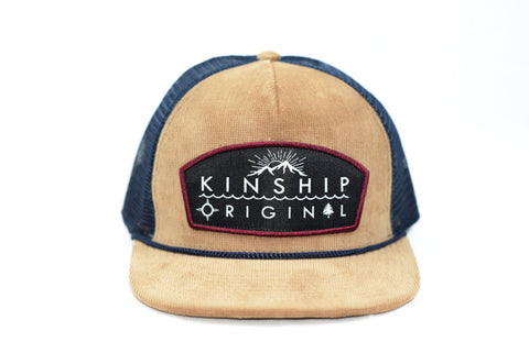 Tradesman Tan Corduroy & Navy Trucker Hat Kinship Original