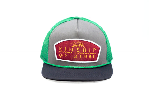 Tradesman Steel, Navy, and Green Trucker Hat Kinship Original