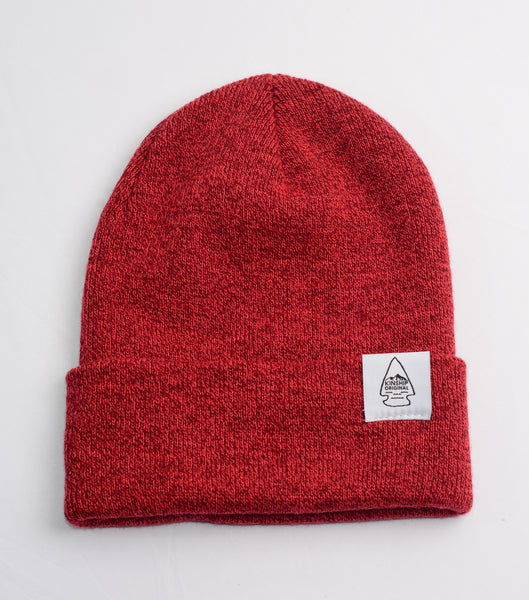 Dawn Cuff Slouch Beanie - Heather Red