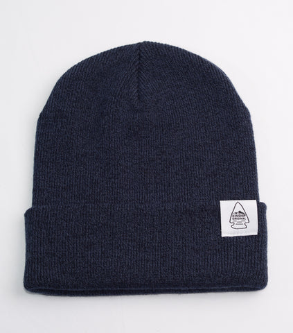 Dawn Cuff Slouch Beanie - Heather Navy