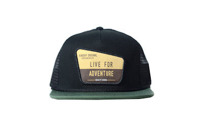 Ranger Trucker Hat Black and Forest Green Kinship Original