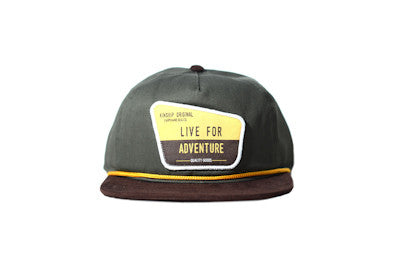 Ranger Unstructured Army Green & Brown Suede Snapback Hat Kinship Original