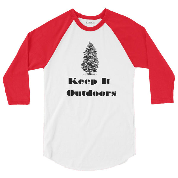 Keep it outdoors 3/4 sleeve Red/white Raglan T-shirt