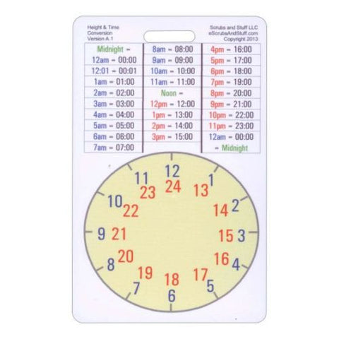 Height & Time Conversion Reference Card – EMS Gear