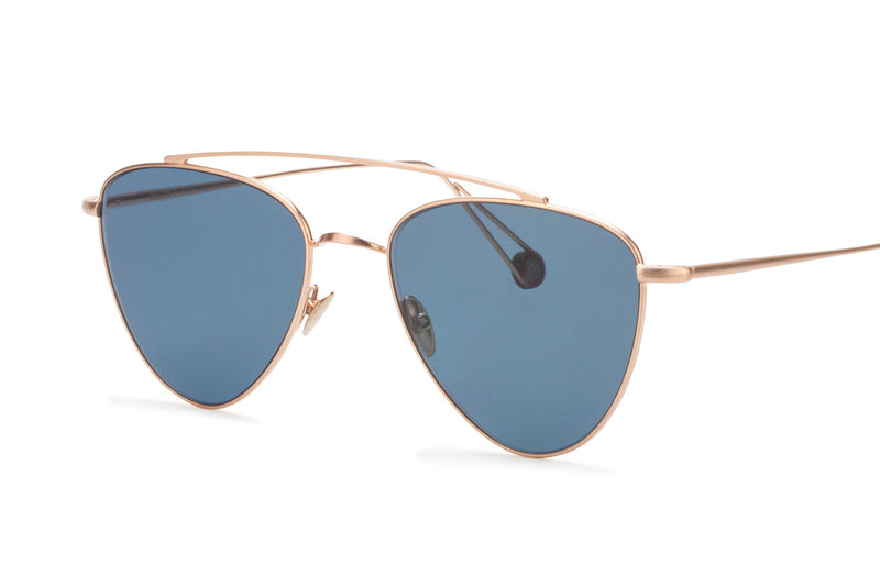 ahlem pyramides gold and blue lens sunglasses